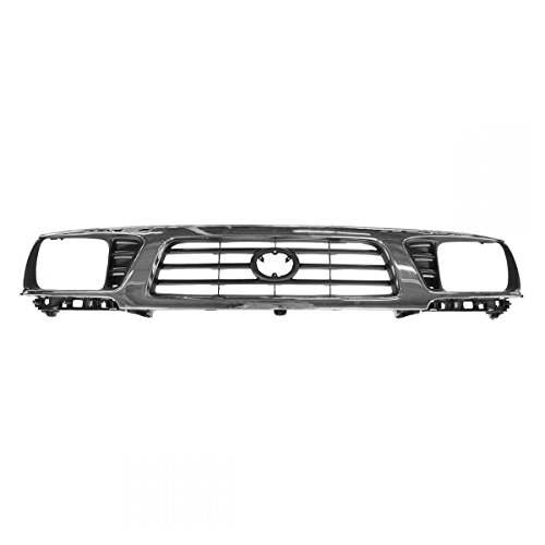 Grille Upper Chrome & Black for 95-97 Toyota Tacoma 4WD