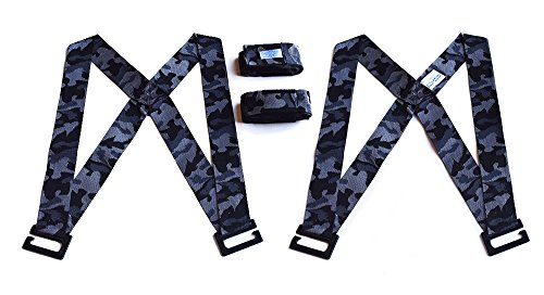 Forearm Forklift Harness 2-Person Shoulder Lifting and Moving System for Furniture, Appliances, Mattresses or Heavy Objects up to 800 Pounds, Urban Camo Special Edition