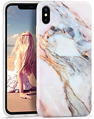 buy popular 6e948 ee944 Imikoko iPhone Xs Max Case, iPhone Xs Max Marble Case, Slim Soft Flexible  TPU Marble Pattern Cover for Apple iPhone Xs Max 6.5