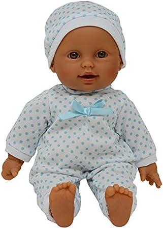 Soft Body Hispanic Newborn Baby Doll With Pacifier, 11
