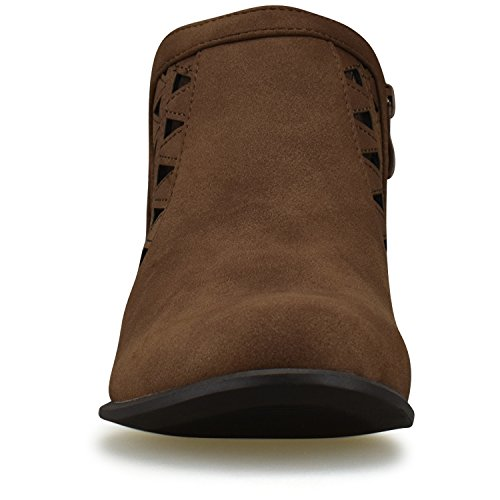 Premier Closed Brown Standard Ankle Bootie Toe Strap Women's Multi rErcpq6T