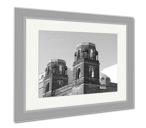 Ashley Canvas Old Historic Church In Chinatown Neighborhood Of Washington Dc Washington, Wall Art Home Decoration, Black/White, 34x40 (frame size), Silver Frame, AG6561178 by Ashley Canvas