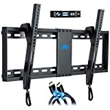 "Mounting Dream MD2268-LK Tilt TV Wall Mount Bracket For Most of 37-70 Inches TVs with VESA 200x100 To 600x400mm and Loading Capacity 132 lbs, Fits 16"", 18"", 24"" Studs"