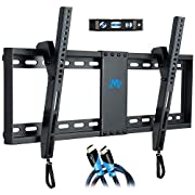 "#LightningDeal Mounting Dream Tilt TV Wall Mount Bracket for Most 37-70 Inches TVs, TV Mount with VESA up to 600x400mm, Fits 16"", 18"", 24"" Studs and Loading Capacity 132 lbs, Low Profile and Space Saving MD2268-LK"