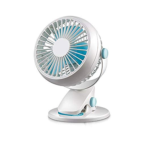 XIOAHU GE Portable Fan Rechargeable Mini Fan with Clip USB Charging Table Fans Portable Personal Fans Mini Fan for Baby Stroller for Office Outdoor Household