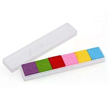 Blue Gradient Same MAMAPAPA Candy Color Ink Pad Fingerprint InkPad Diesel Accessories Negro alfonbrilla para rat/ón