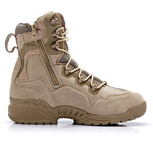Da top Jungle Patrol Da Boots Desert High Hiking LDZY Stivali Atletico Tan Camping Boots Tactical Khaki Desert Uomo Combattimento X65TTa