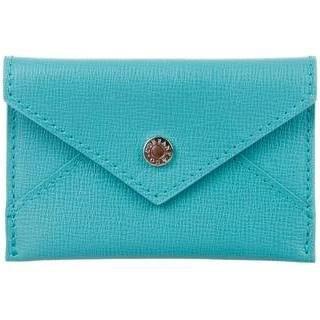Tiffany & Co. TIFFANY & CO BLUE LEATHER CARD HOLDERr W/ Box , Bag ,New