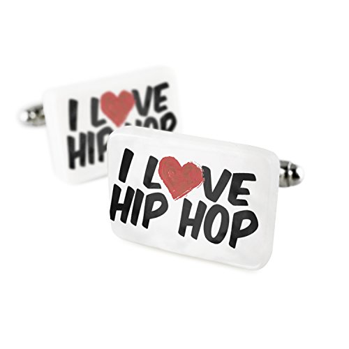 Cufflinks I Love Hip Hop Porcelain Ceramic NEONBLOND by NEONBLOND