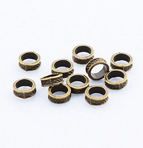 - New 50pcs Bronze Barrel Spacer Beads Big Hole Charm Jewelry Finding DIY 8x3mm
