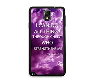 Shawnex Philippians 4 13 Bible Quote Samsung Galaxy Note 3 Case - Fits Samsung Galaxy Note 3 Note III