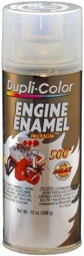 Paint High Temp Enamel Gloss (Dupli-Color EDE163607 Ceramic Clear Engine Paint - 12 oz.)