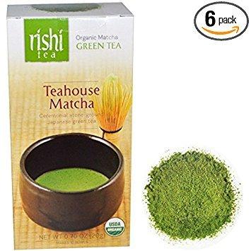 Rishi Tea,Og2,Teahouse Matcha 0.7 Oz (Pack Of 6)