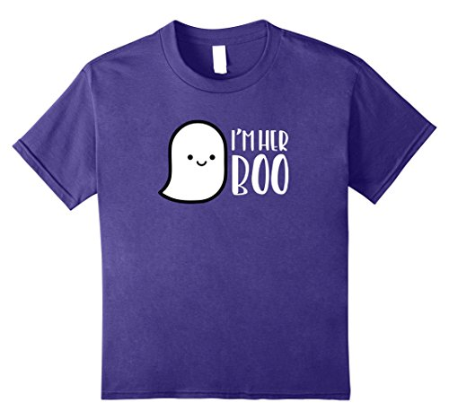 Cute Costumes For Halloween Duo Girls (Kids MATCHING SET I'm His or Her Boo Halloween Ghost Couple shirt 12)