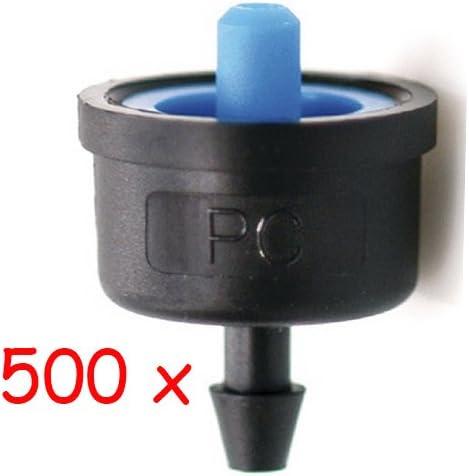 Filtraci/ón recomendada 120 mesh No desmontable Pack 500 goteros agricolas Apertura a 0,5 bar Goteros de riego Gotero AUTOCOMPENSANTE ALTA PRECISI/ÓN Modelo iDROP Caudal 8 litros por hora
