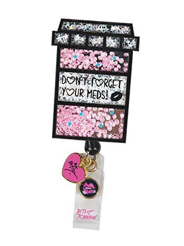 KOI Betsey Johnson Pill Box Badge Reel
