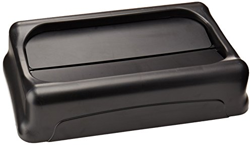 - Rubbermaid Commercial Products Swing-Top Trash Can Lid for Slim Jim Containers, Black, 20.5X11.4X5 in. -RCP267360BK