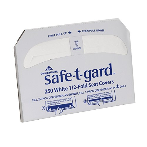 Safe-T-Gard Georgia Pacific 1/2 Fold Toilet Seat Covers, Whi