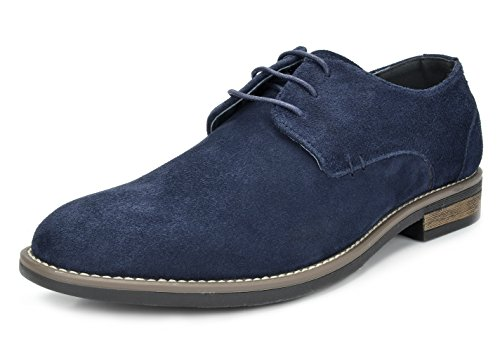 Bruno Marc Men's URBAN-08 Navy Suede Leather Lace Up Oxfords Shoes – 12 M US