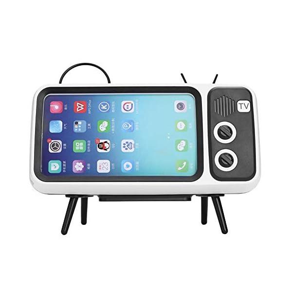 Domybest Enceinte Bluetooth Portable Mini Haut-Parleur Bluetooth Support de Téléphone de Forme TV Rétro Lecteur de Musique Sound Box Bluetooth Portable sans Fil 1