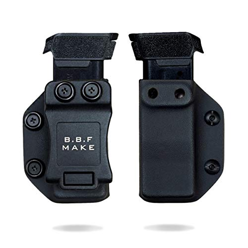 B.B.F Make Single IWB/OWB Magazine Holster | Mag Carrier | Retired Navy Owned Company | Available Model: M&P Shield 9/40, Glock 4/90/367, Sig P365 (Black - Sig Sauer P365)