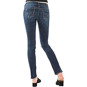 Silver Jeans Co. Women's Elyse Relaxed Fit Mid Rise Straight Leg