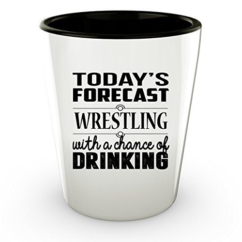 [WRESTLING Shot Glass - WRESTLING Gifts - Unique Shot Glass, Coffee Cup] (John Smith Costume Vest)