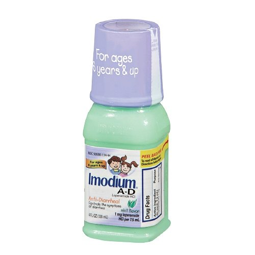 (Imodium A-D Anti-Diarrheal, Mint Flavor 4 fl oz Pack of 2 )