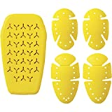 Roland Sands Design Knox Microlock Men's Off-Road Motorcyle Pads - Yellow/One Size