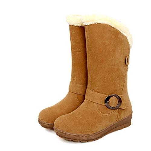 Warme Rutschfeste Stiefeletten Winter Stiefeletten 42 Mittelrohrstiefel Boots Gelb Schneestiefel Quaste Retro Outdoor Damen Sonnena Sohle 35 Klassischer Weiche wgIBYf