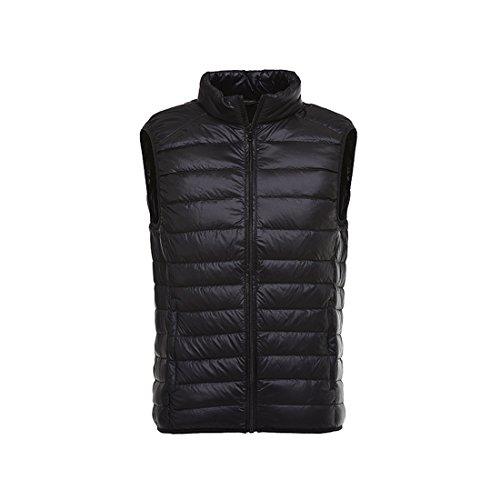 ACVIP Gilet Lightweight Winter Coat Puffer Jacket Bodywarmer Men's Black Down RRqOr4w