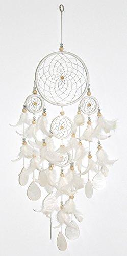 Dreamcatcher Muscheln weiß Durchmesser 14 cm Fensterhänger Traumfänger