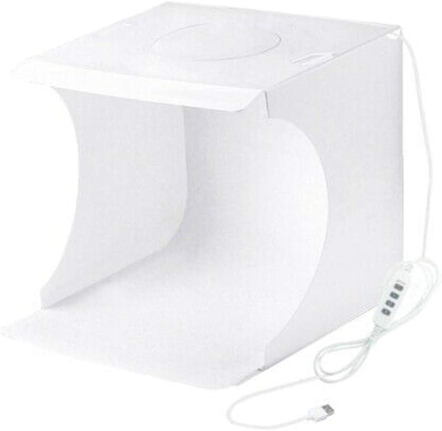 Reuvv Plegable Estudio Fotográfico, Caja de Luz para Fotografía, Min 64 LED Portátil Foto Iluminación Estudio Disparo Luz Tienda Caja Kit para Fotografía: Amazon.es: Hogar