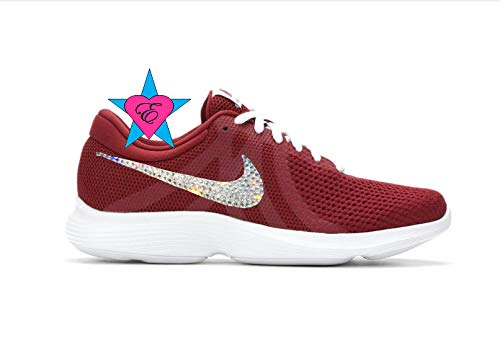 307ae0a6ec916 Amazon.com: Custom Crystal Bedazzled Women Nike Revolution 4 Running ...