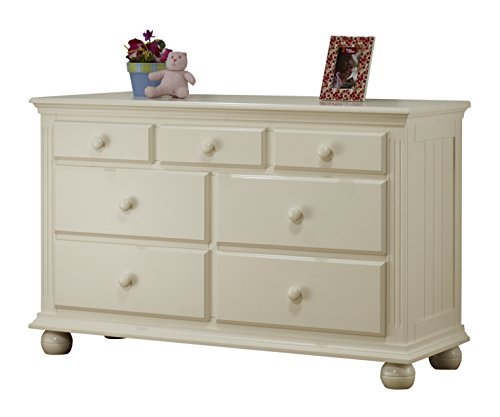 Sorelle Vista 7 Drawer Double Dresser, French White