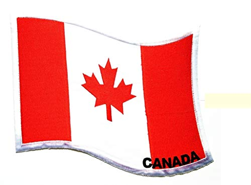 PP Patch Big Jumbo Large Canada Flag Logo Back Jacket T-Shirt Patch Sew Iron on Embroidered Sign Badge Costume ()