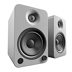 Kanto YU4 Powered Bookshelf Speakers with Bluetooth® and Phono Preamp (Matte Grey)