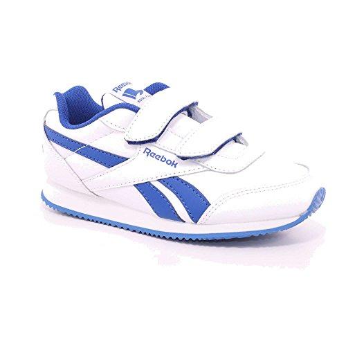 Reebok Bs8017, Zapatillas de Deporte Unisex Niños Blanco (White / Vital Blue)