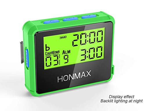 HONMAX 8200 Waterproof Programmable Interval Timer Stopwatch | Timers for Kitchen, HIIT, Running, Sports, Swimming and Outdoor Exercise | Countdown up to 100 Hours | LED Digital Clock for Workout