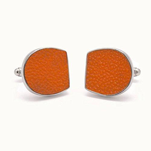 Tokens & Icons Miami Dolphins Orange Bowl Stadium Seat Cufflinks- Orange (2MIA)