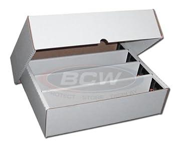 BCW 3200 Count - Caja de almacenamiento para 800 cartas (5 ...