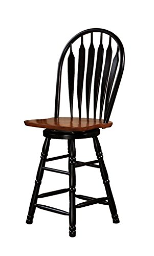 Sunset Trading DLU-B24-BCH Swivel Barstool, 24