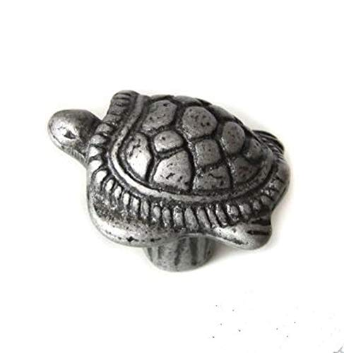 kids knobs antique/archaize creative sea turtle handles antique silver drawer shoe cabinet children room furniture knobs pulls