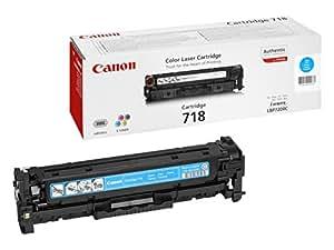 Canon 718 C - Cartucho de tóner, 2900 páginas, color cian