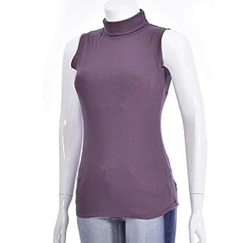 NEXGEN FEMME Violet High Neck T-Shirt For Women