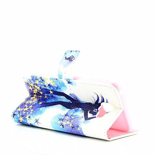 Samsung Galaxy S6 Edge Wallet Case, Bonice PU Cuero Flip Funda Diamante Bling Cierre Magnético Shock-Absorción + TPU Caja Soporte con Ranura Tarjeta Ultra Delgada Estilo Libro - Lavanda Bailarina