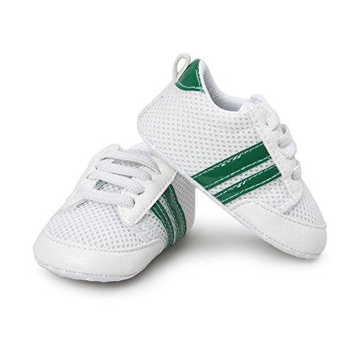 Save Beautiful Baby Shoes   Infant Boys Girls Summer Net Sneakers Crib Shoes  5 12Inches 12 18Months   Style A  Green
