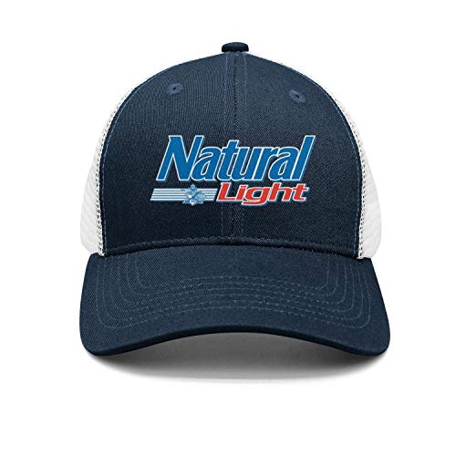 Just Hiker Adjustable Natural-Light-Logo-Beer- Trucker Hat Classic Fashion Caps (Natural Light Logo)