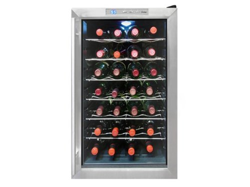 Vinotemp 6 Bottle - Vinotemp VT-28TEDS Thermo-Electric Digital 28-Bottle Wine Chiller, Black and Stainless