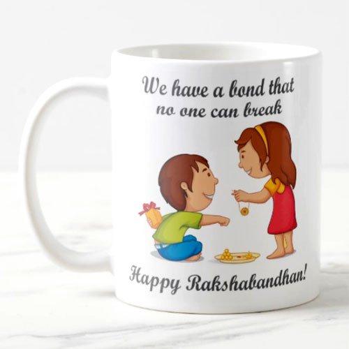 exciting Lives Ceramic Raksha Bandhan Mug – 1 Piece, White, 325 ml Price & Reviews